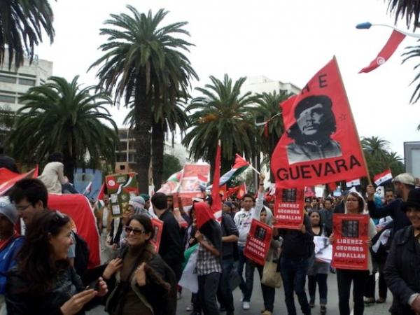 De los alrededor de 60.000 participantes del FSM en Túnez, solo 8.000 vinieron de Europa. Crédito: Monika Prokopczuk/IPS