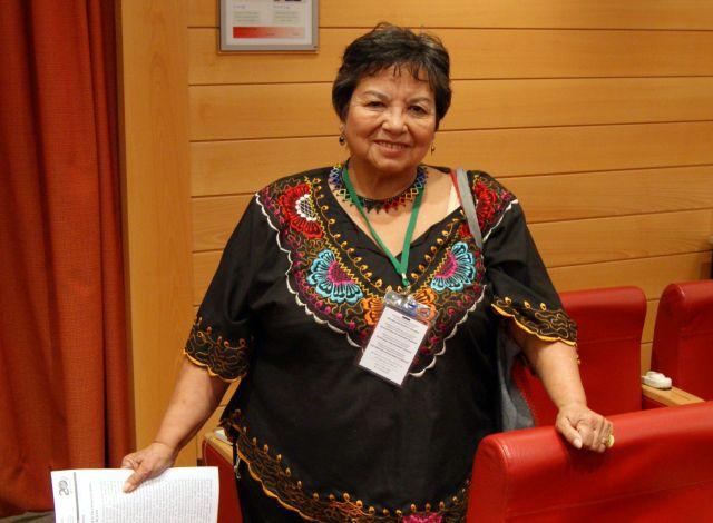 Francisca Rodríguez, líder indígena chilena de La Vía Campesina. Crédito: Julio Godoy/IPS