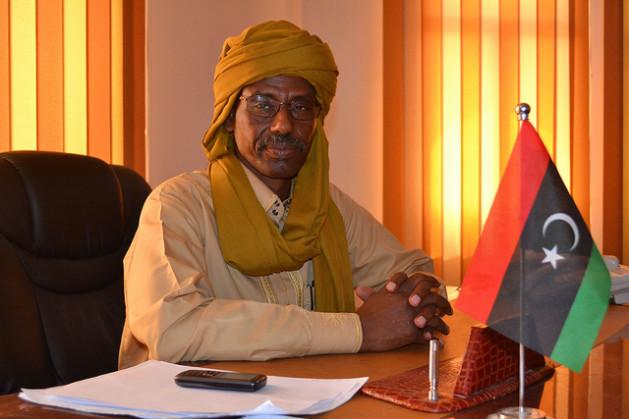 El coronel Barca, comandante de Mourzouk, está en contacto con federalistas del este libio. Crédito: Maryline Dumas/IPS