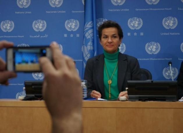Christiana Figueres, secretaria ejecutiva de la Convención Marco de las Naciones Unidas sobre el Cambio Climático (CMNUCC). Crédito: Lusha Chen/IPS