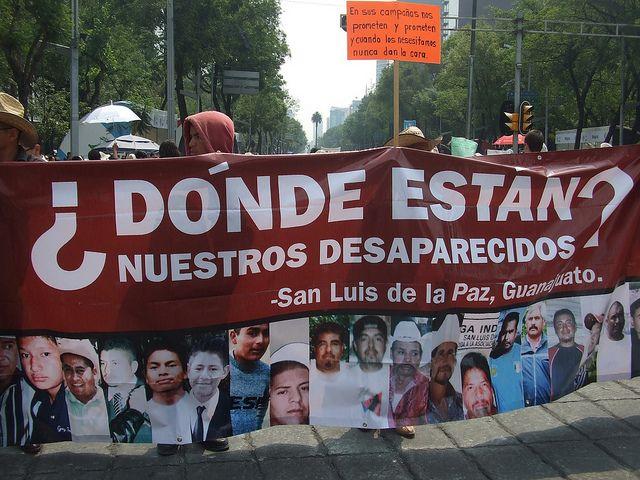 Marcha de madres de desaparecidos realizada en mayo de 2012 en el centro de la ciudad de México. Crédito: Daniela Pastrana/IPS