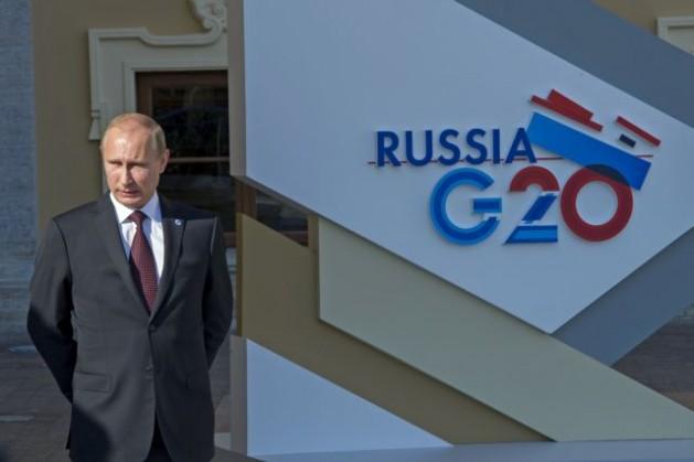 El presidente ruso Vladimir Putin espera la llegada de los líderes del G-20 para la cumbre del grupo en San Petesburgo, el 5 de septiembre de 2013. Crédito: UN Photo/Eskinder Debebe