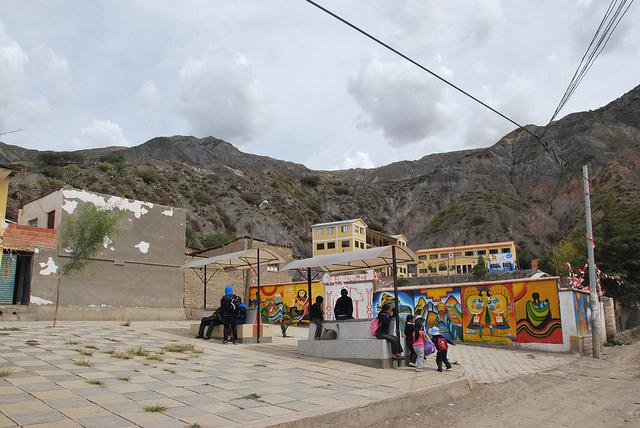 El Palomar, una localidad rural, a unos 40 kilómetros de La Paz, en Bolivia. Crédito: Gustav Cappaert /IPS