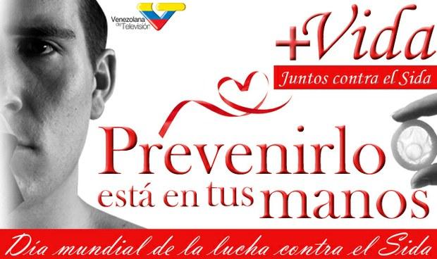 Parte de una de las campañas para prevenir el sida en Venezuela. Crédito: Venezolana de Televisión