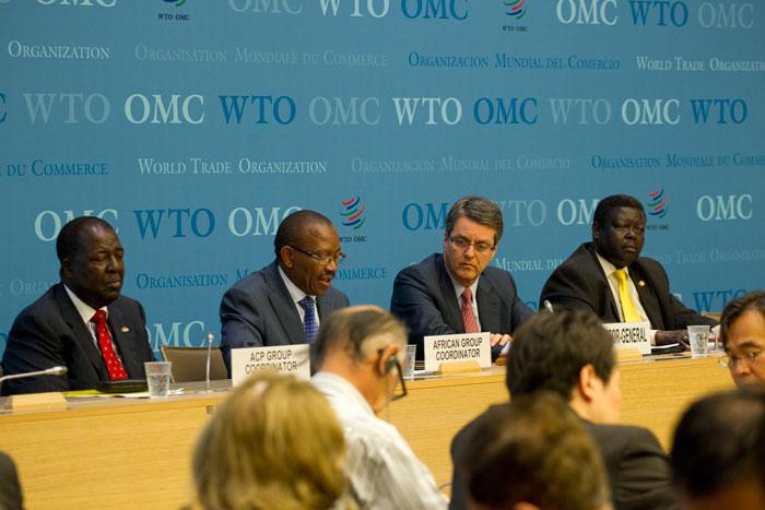 Delegados presentes en el Consejo General de la Organización Mundial del Comercio, en Ginebra, el 22 julio de 2014. Crédito: Jessica Genoud/OMC