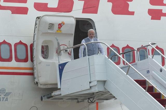 El primer ministro de India, Narendra Modi, llega a Brasil para asistir a la Sexta Cumbre del BRICS, el 14 de julio de 2014. Crédito: Agencia de Brasil EBC