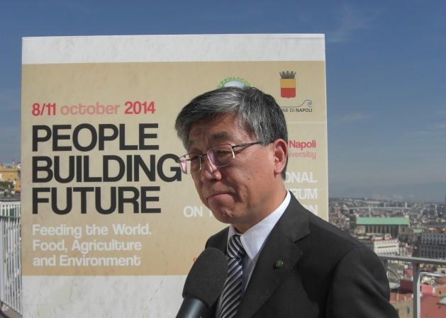 """""""Necesitamos un cambio transformador de nuestras políticas alimentarias y agrícolas para tener sostenibilidad"""": Ren Wang, del Departamento de Agricultura y Protección del Consumidor de la FAO. Crédito: A. D. McKenzie/IPS"""