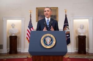 El presidente Barack Obama durante el anuncio de la normalización de las relaciones entre Estados Unidos y Cuba. Crédito: Foto oficial de la Casa Blanca, por Chuck Kennedy.