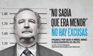 Uno de los carteles de la masiva campaña No Hay Excusas, realizada por el Conapees, el Instituto del Niño y Adolescente del Uruguay y Unicef. Crédito: Cortesia de Conapees