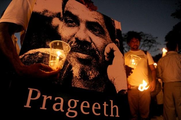 El columnista y dibujante de Sri Lanka Prageeth Eknaligoda está desaparecido desde hace casi cinco años. Crédito: Vikalpa | Groundviews | CPA / CC-BY-2.0