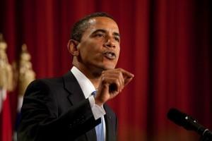 """En su discurso en la Universidad de El Cairo en 2009, el presidente Barack Obama reclamó un """"nuevo comienzo entre Estados Unidos y los musulmanes"""" y dijo que el """"ciclo de sospecha y discordia debe terminar"""". Crédito: Foto de la Casa Blanca"""