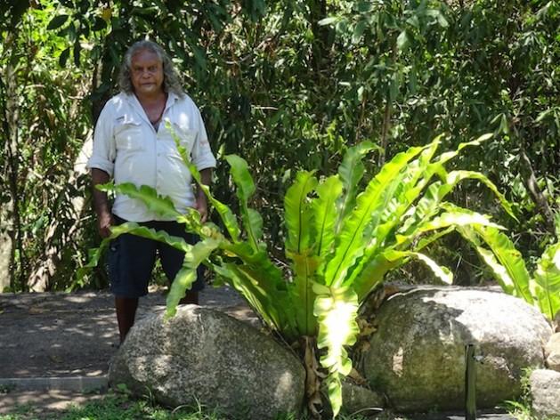 Roy Roger Gibson, un anciano kuku yalanji, tuvo que esperar 20 años para realizar su sueño de formar parte de una empresa de ecoturismo sostenible de propiedad indígena. Crédito: Neena Bhandari/IPS
