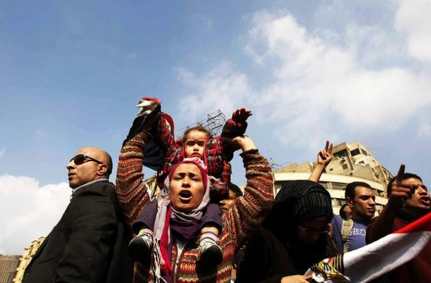 En la plaza Tahrir, El Cairo. Crédito: Mohammed Omer/IPS
