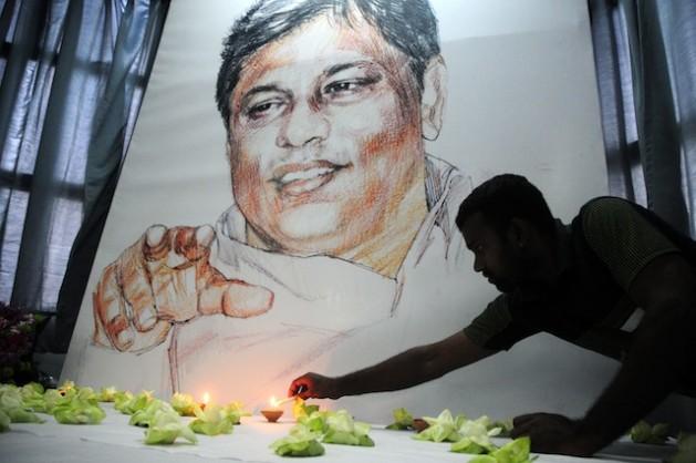 El asesinato en 2009 del destacado periodista Lasantha Wickrematunge causó conmoción en los medios de comunicación de Sri Lanka. Crédito: Amantha Perera/IPS