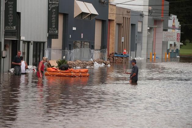 Las inundaciones en Brisbane, Australia, fueron declaradas un desastre natural en enero de 2011. Crédito: Bigstock