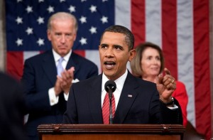 El presidente estadounidense, Barack Obama, ante una sesión conjunta del Congreso de Estados Unidos, en septiembre de 2009. Crédito: Pete Souza/Casa Blanca