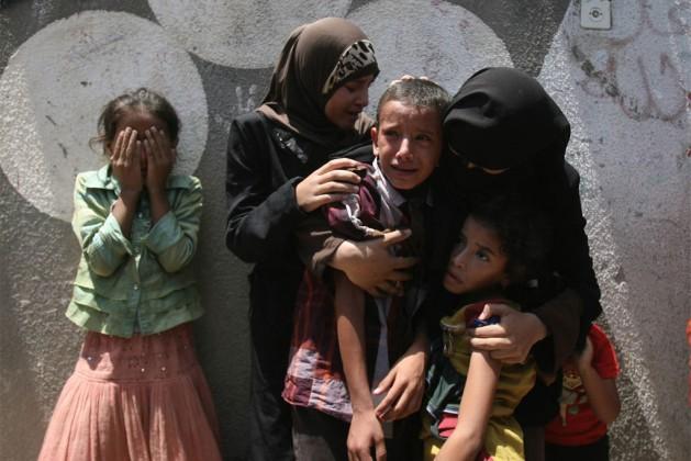 Niños palestinos, sin importar su edad, son víctimas de maltrato en los centros de detención de las fuerzas policiales y militares de Israel. Foto: Unicef/El Baba