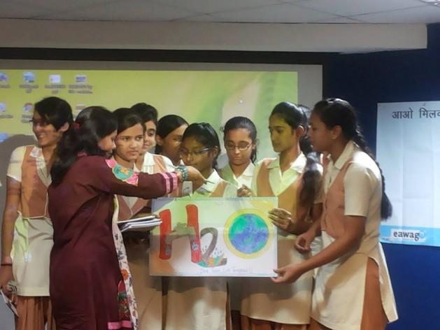 LIMPIA a India es un programa de evaluación, sensibilización, acción y defensa ambiental que promueve el cambio de comportamiento de los jóvenes urbanos. Hasta el momento movilizó a 28 ONG, 300 escuelas, 800 profesores y más de un millón de estudiantes. Crédito: Alternativas de Desarrollo.
