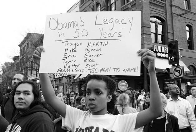 Marcha en Washington, el 29 de abril, en solidaridad con las protestas de Baltimore por la muerte de Freddy Gray a manos de la policía. Crédito: Stephen Melkisethian/cc by 2.0
