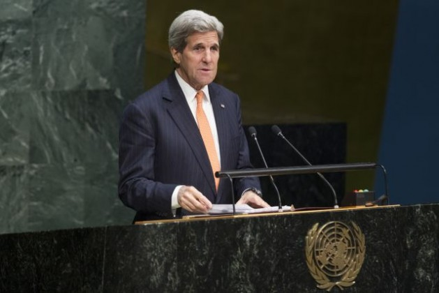 El secretario de Estado de Estados Unidos, John Kerry, en la Conferencia Internacional de Examen del Tratado de No Proliferación Nuclear (TNP), el 27 de abril. Crédito: Loey Felipe/ONU