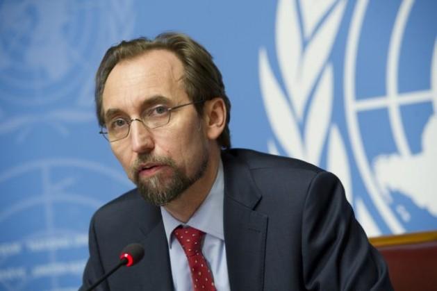 Zeid Ra'ad Al-Hussein, Alto Comisionado de la ONU para los Derechos Humanos, en una conferencia de prensa sobre la investigación de los presuntos abusos sexuales cometidos por fuerzas militares extranjeras en República Centroafricana, el 8 de mayo. Crédito: Violaine Martin/ONU