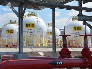 Una de las terminales de distribución de gas de Petróleos Mexicanos, un hidrocarburo que se proyecta que el esquisto aporte 45 por ciento de la producción en mexicana 2026. Crédito: Pemex
