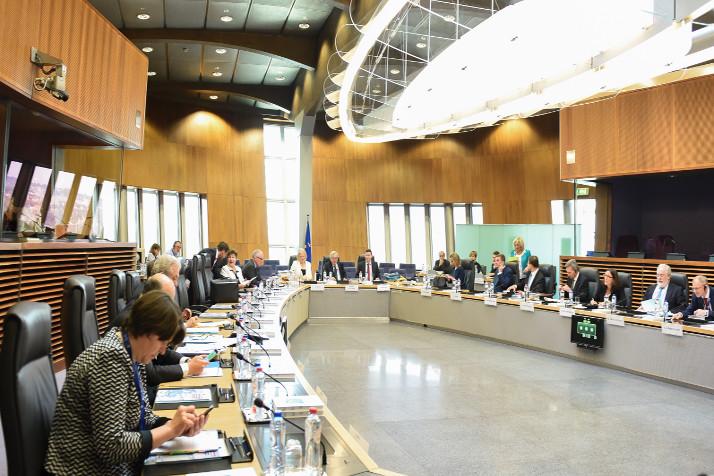 Reunión en la sede de la Comisión Europea. Crédito: Unión Europea.