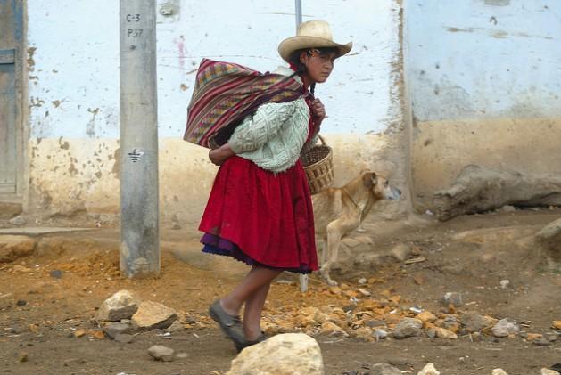 Una residente de Combayo, en Perú. La participación ciudadana es fundamental para que el país realice sus ambiciosos planes de acción climática. Crédito: Cortesía de La República/IPS