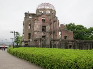 El Domo de la Bomba Atómica es como se conoce esta ruina del ataque del 6 de agosto de 1945 contra la ciudad japonesa de Hiroshima, uno de las pocas estructuras que se mantuvo en las inmediaciones de donde detonó la bomba atómica. Crédito: Cortesía de Barbara Dunlap-Berg,/UMNS