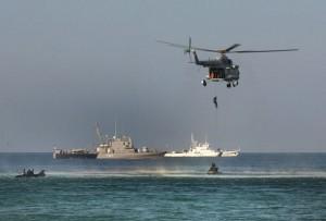 Ejercicio Milán 2014 con 17 armadas del Simposio Naval del océano Índico, organizado por la Armada de India. Crédito: Armada de la India