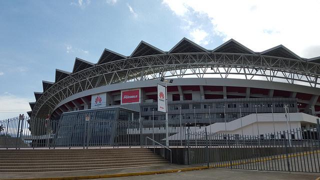El Estado Nacional de Costa Rica, donado por China como regalo por el establecimiento de relaciones bilaterales en 2007, construido en 2009 y 2010 por una compañía de la nación asiática con mano de obra procedente de aquel país. Crédito: Diego Arguedas Ortiz/IPS