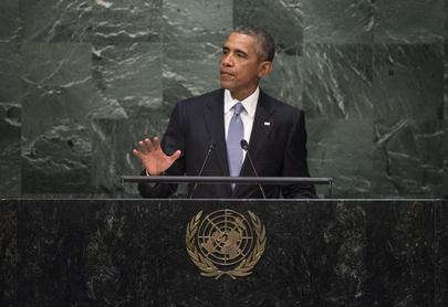 El presidente de Estados Unidos, Barack Obama, ante la Asamblea General de la ONU. Crédito: Cia Pak/ONU