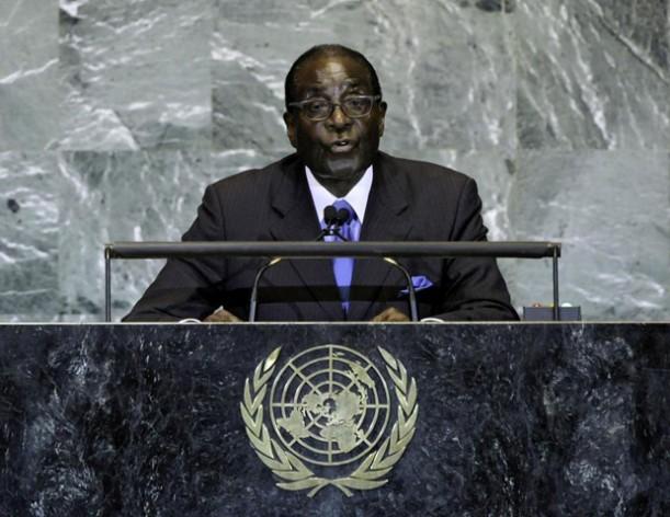 """""""Nosotros no somos gays"""", dijo el presidente de Zimbabue, Robert Mugabe, en la Asamblea General de la ONU. Lou Rouse/ONU"""