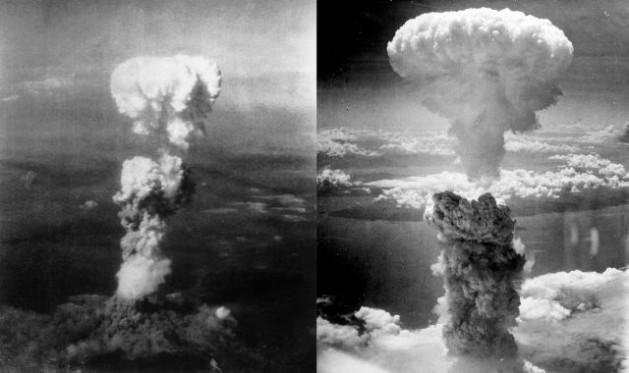 Imágenes de los bombardeos atómicos sobre las ciudades japonesas de Hiroshima y Nagasaki en 1945. Crédito: Dominio público