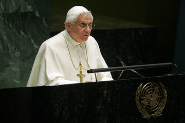 Benedicto XVI fue el tercer papa en hablar ante la Asamblea General de la ONU, en 2008.