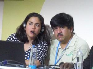 Luis Martínez, representante de la CLAC, fue uno de los agricultores presentes para discutir sobre el Acuerdo de París.