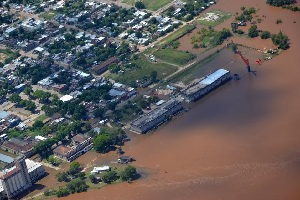 En Uruguay, hay 22.414 personas desplazadas por las inundaciones que afectan a los países del Mercosur. Crédito: Sistema Nacional de Emergencias (Sinae).