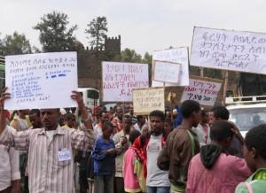 Manifestación contra la ley antiterrorista de Etiopía en la norteña ciudad de Gondar. Crédito: William Lloyd-George/IPS