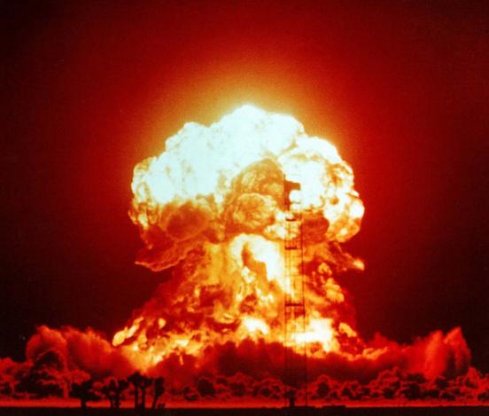 El hongo de una explosión nuclear. Crédito: CTBTO
