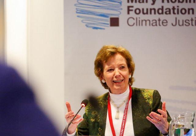 Mary Robinson, presidenta de la Fundación Mary Robinson-Justicia Climática.
