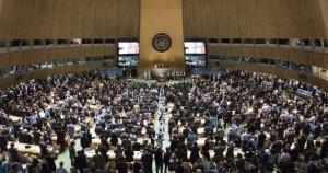 Asamblea General de la ONU durante la firma del Acuerdo de París.