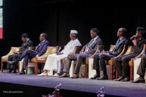 Jefes de Estado africanos durante la ceremonia de inauguración de la sesión anual del Banco Africano de Desarrollo en Lusaka. Crédito: Yoka | @vandvictors