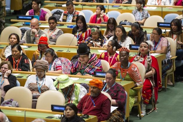 Apertura de la decimoquinta sesión del Foro Permanente para las Cuestiones Indígenas. Rick Bajornas/ONU.
