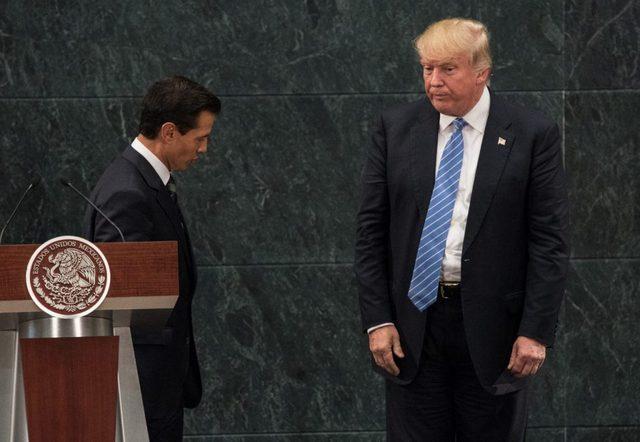 Encuentro en Los Pinos, la residencia presidencial de Enrique Peña Nieto, presidente de México, con Donald Trump, cuando era candidato presidencial del Partido Republicano de Estados Unidos. Alejandro Meléndez/ Enelcamino