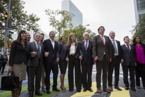 Los gobernantes que participaron en la Asamblea General de la ONU, en Nueva York, en septiembre, se encontraron con un recordatorio de los derechos de las personas LGBT. Crédito: Manuel Elias/ UN Photo.