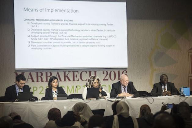 Panel de discusión sobre los medios de implementación. Crédito: Friday Phiri/IPS.