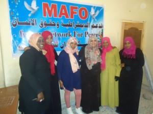 Mujeres participan en un taller sobre las ventajas de la reconciliacion y los esfuerzos de paz en Ciudad Sabha. Crédito: MAFO
