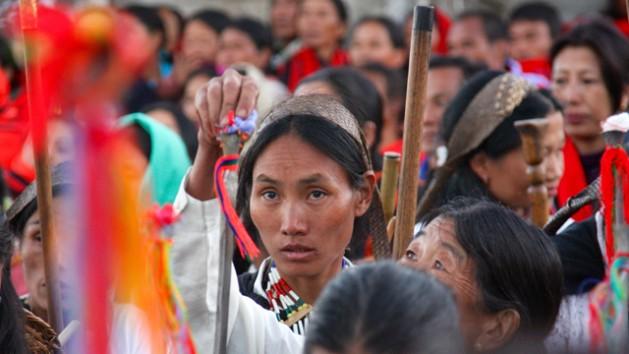 Indígenas se suman a las protestas por el derecho a la tierra en Asia. Crédito: IWGIA