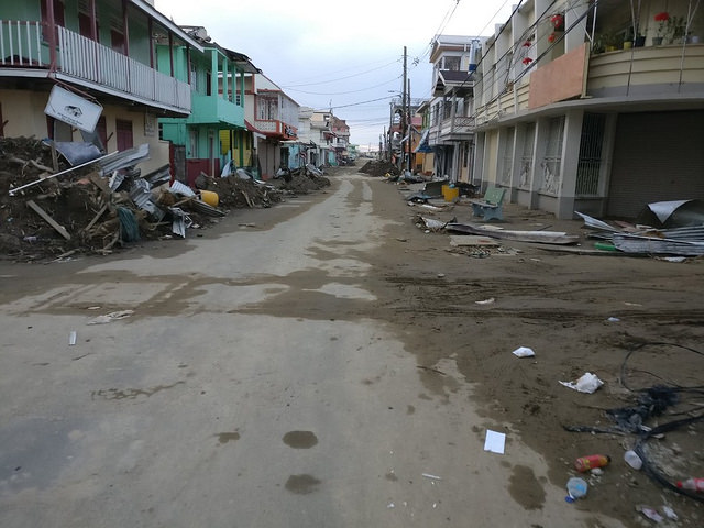 Imagen de la devastación del paso del huracán María por Dominica, el 2 de octubre. Crédito: Ian King/PNUD