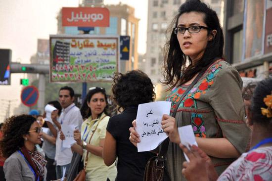 Una de las numerosas protestas contra el acoso sexual hacia las mujeres que se repiten en el mundo, en esta ocasión en Egipto. Crédito: ONU Mujeres